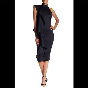 Issue New York Scuba Mock Neck ruffle dress